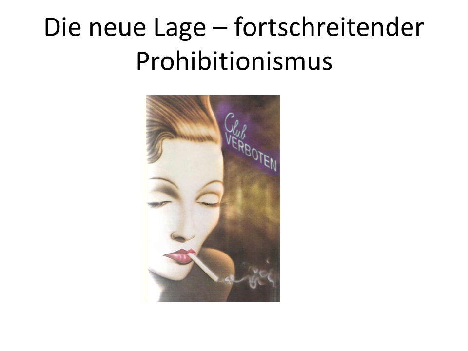 Die neue Lage – fortschreitender Prohibitionismus