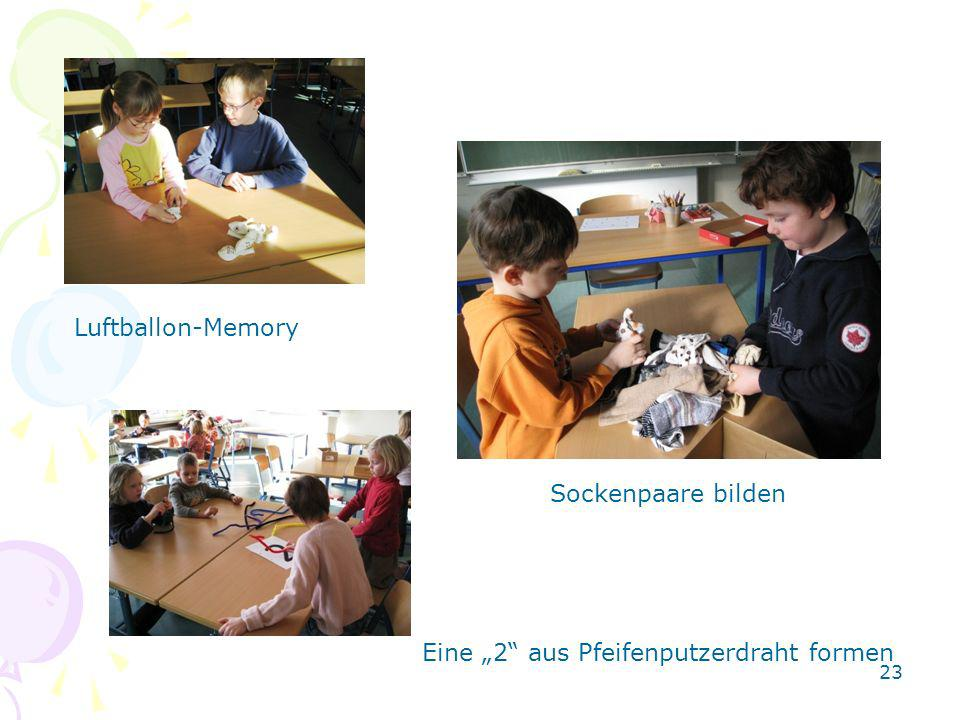 "Luftballon-Memory Sockenpaare bilden Eine ""2 aus Pfeifenputzerdraht formen"