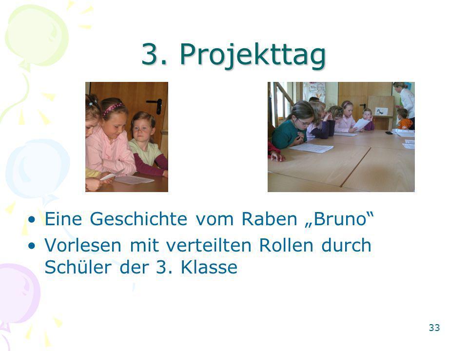 """3. Projekttag Eine Geschichte vom Raben """"Bruno"""