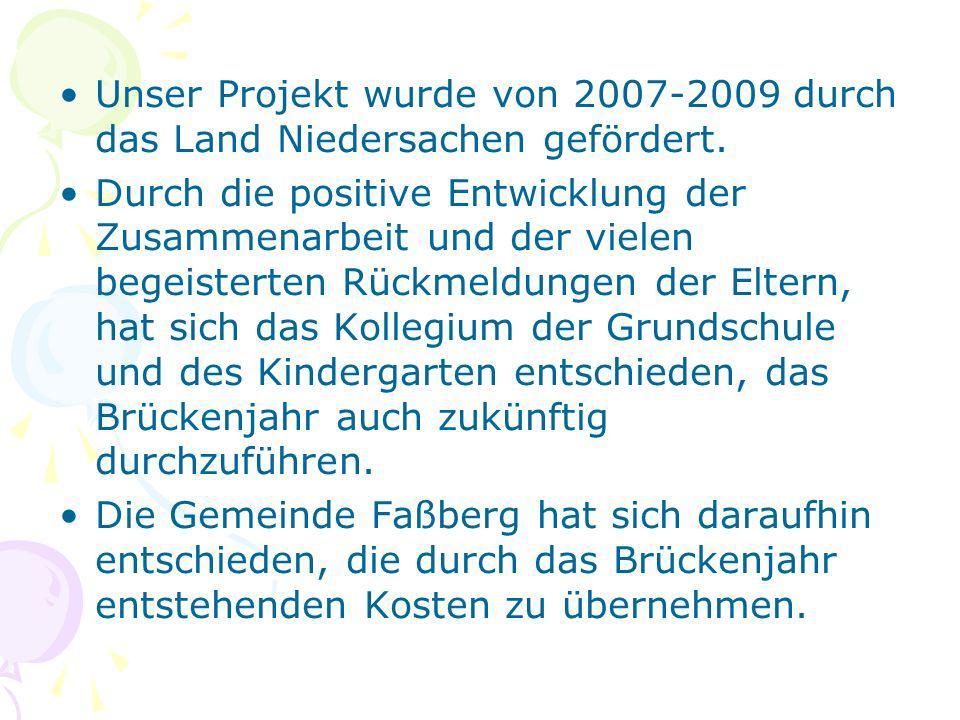 Unser Projekt wurde von 2007-2009 durch das Land Niedersachen gefördert.