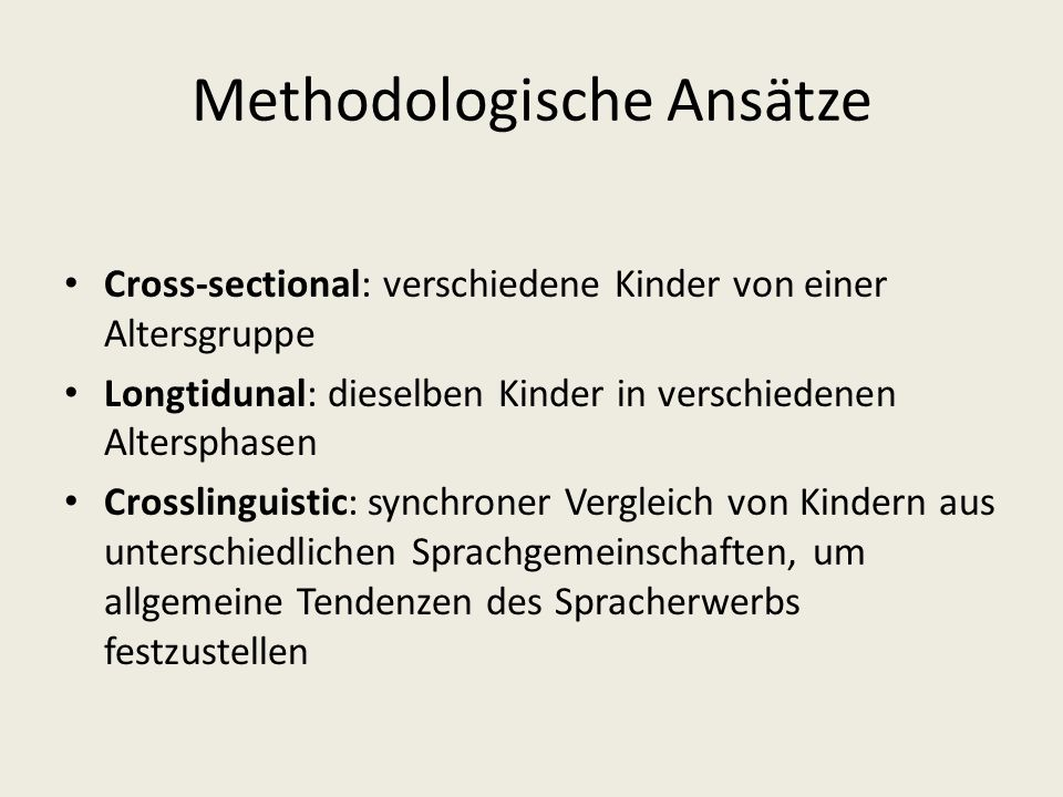 Methodologische Ansätze