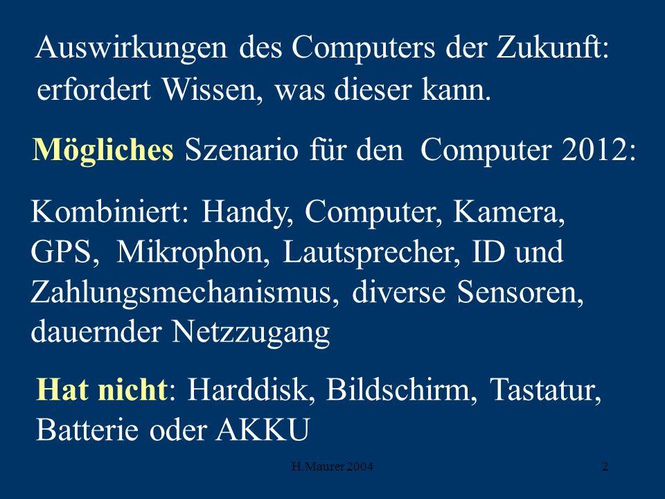 Mögliches Szenario für den Computer 2012: