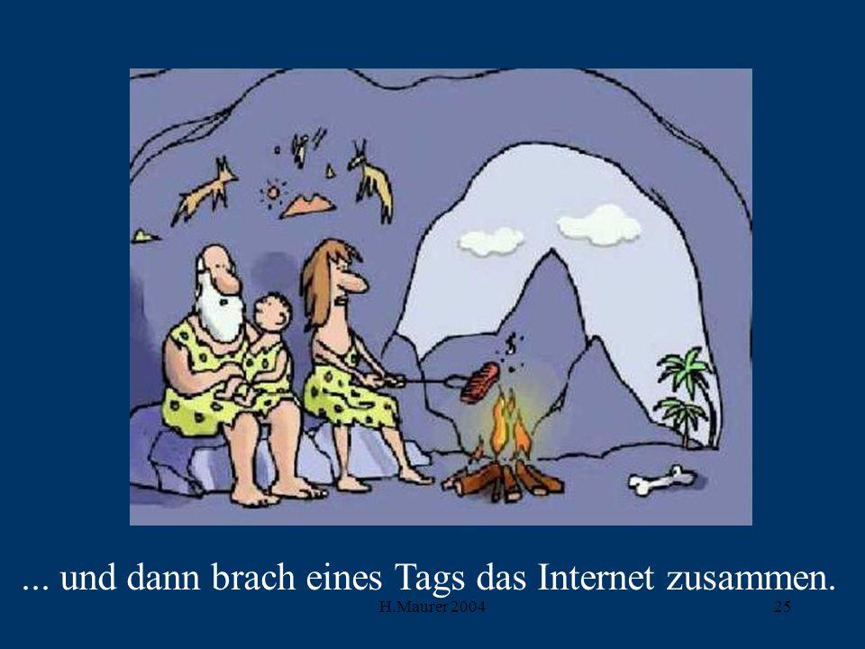 ... und dann brach eines Tags das Internet zusammen.