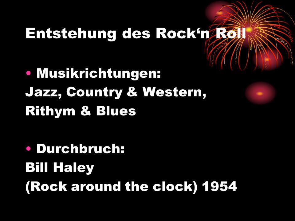 Entstehung des Rock'n Roll