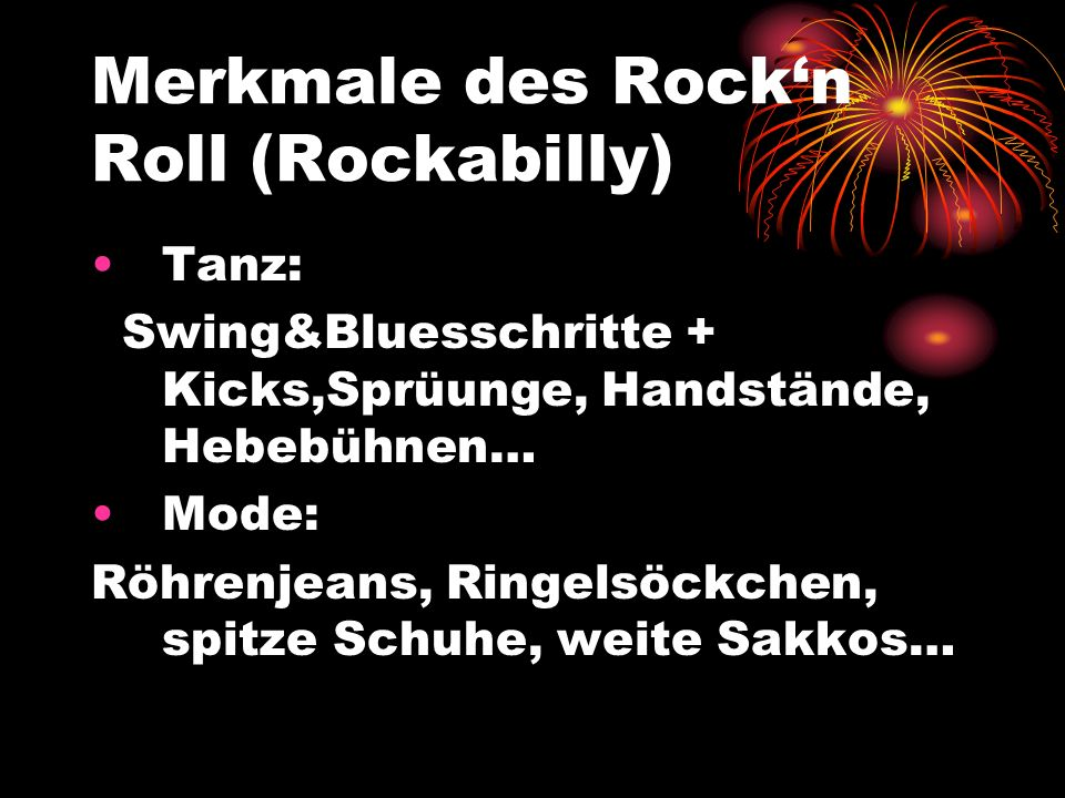 Merkmale des Rock'n Roll (Rockabilly)