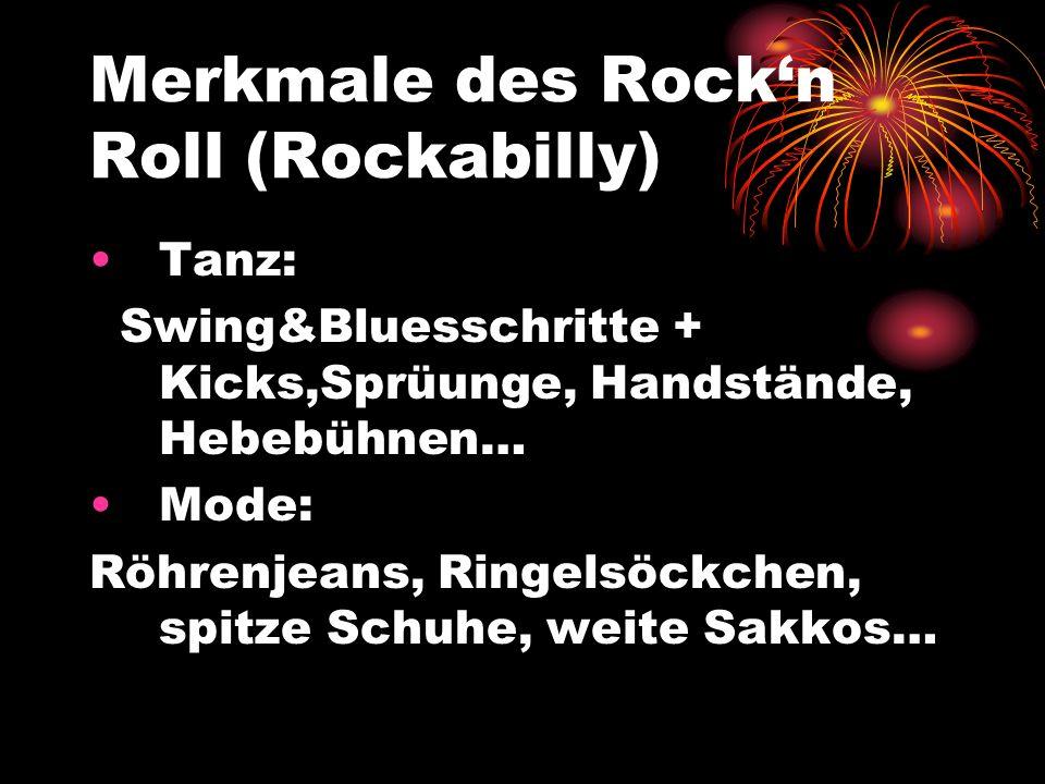 Merkmale des Rock'n Roll (Rockabilly)