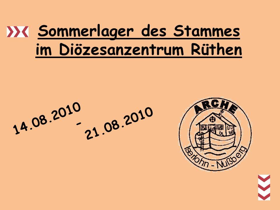 Sommerlager des Stammes im Diözesanzentrum Rüthen