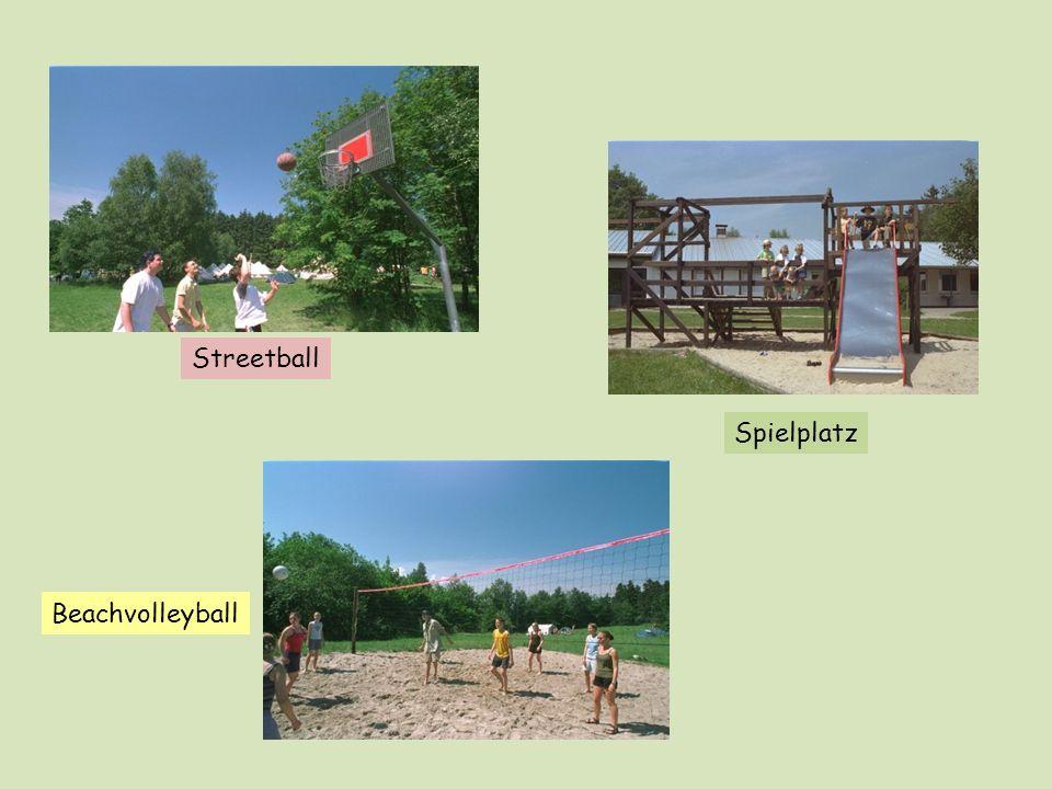 Streetball Spielplatz Beachvolleyball
