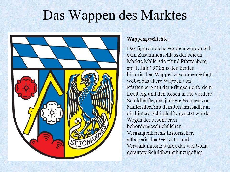 Das Wappen des Marktes Wappengeschichte: