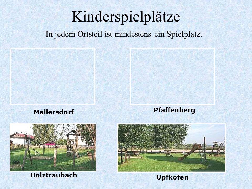 In jedem Ortsteil ist mindestens ein Spielplatz.
