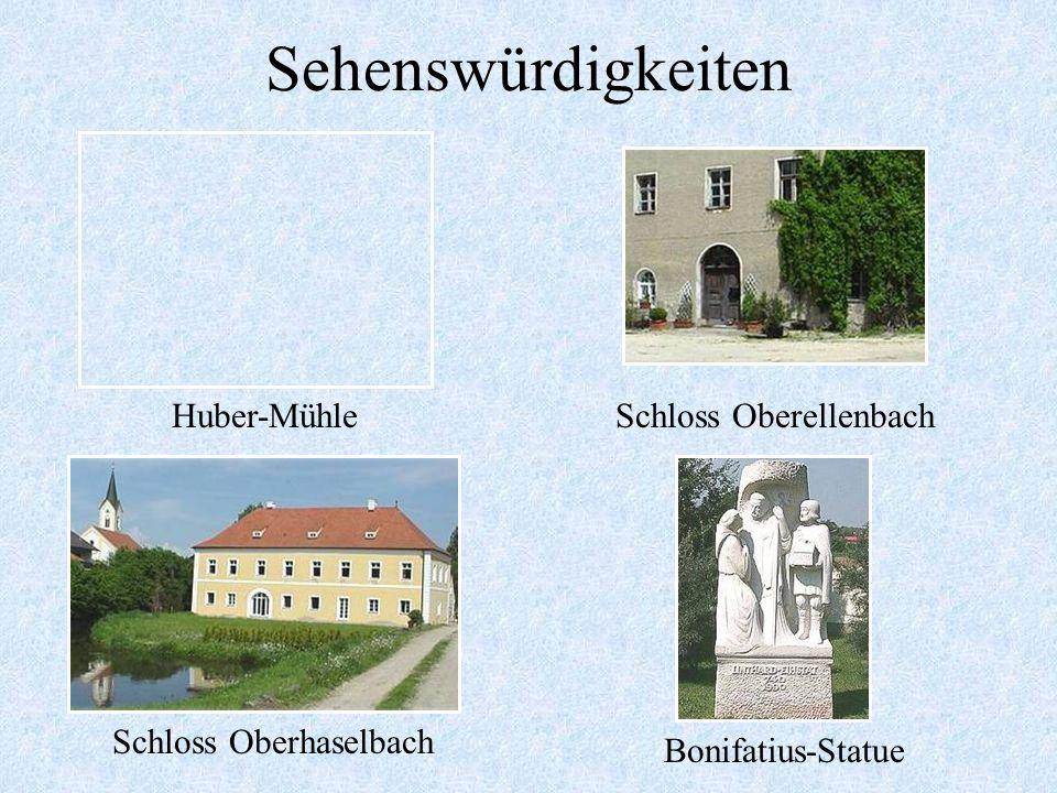 Sehenswürdigkeiten Huber-Mühle Schloss Oberellenbach