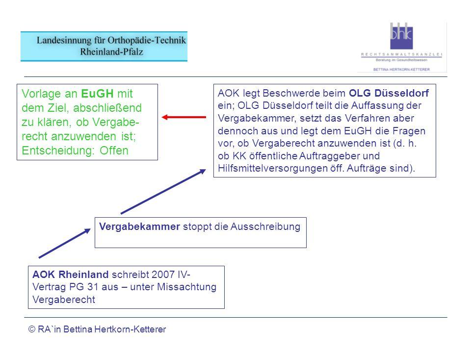 Vorlage an EuGH mit dem Ziel, abschließend zu klären, ob Vergabe-recht anzuwenden ist; Entscheidung: Offen