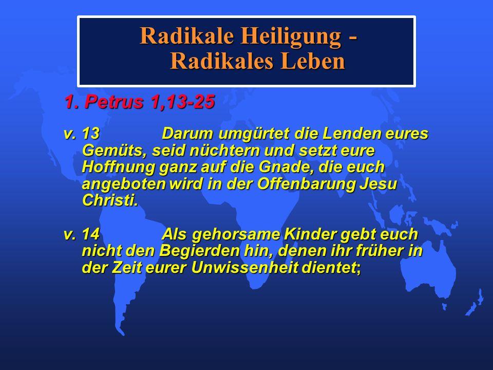 Radikale Heiligung - Radikales Leben