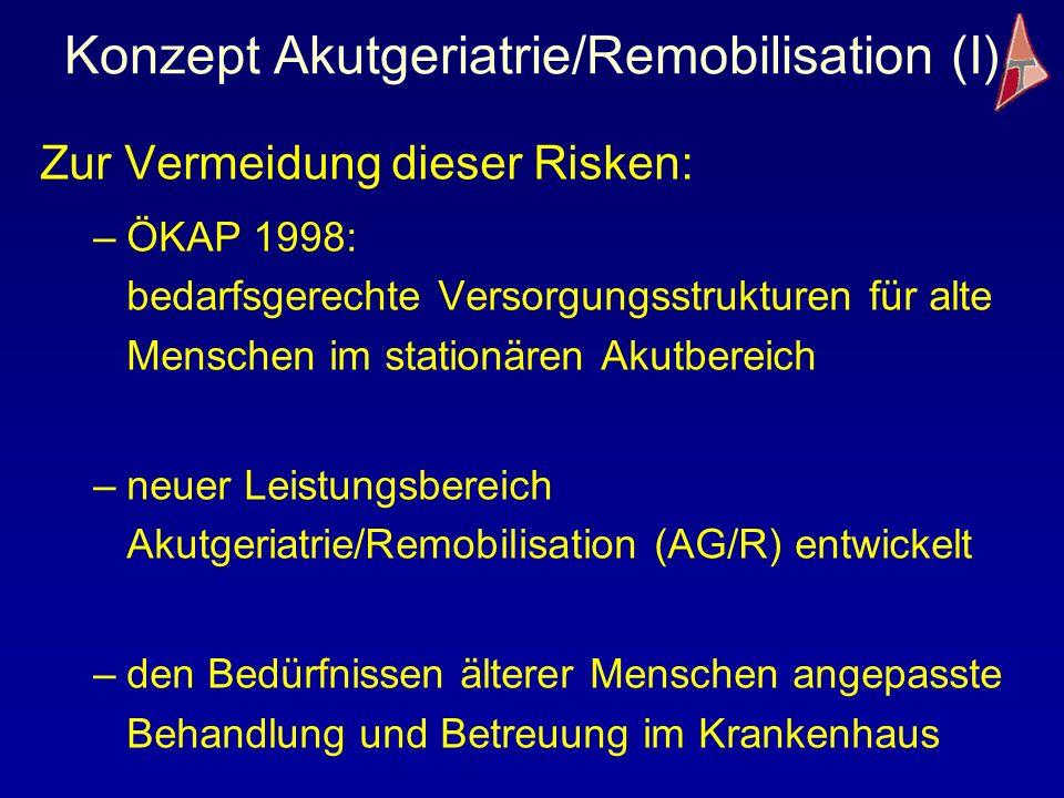 Konzept Akutgeriatrie/Remobilisation (I)