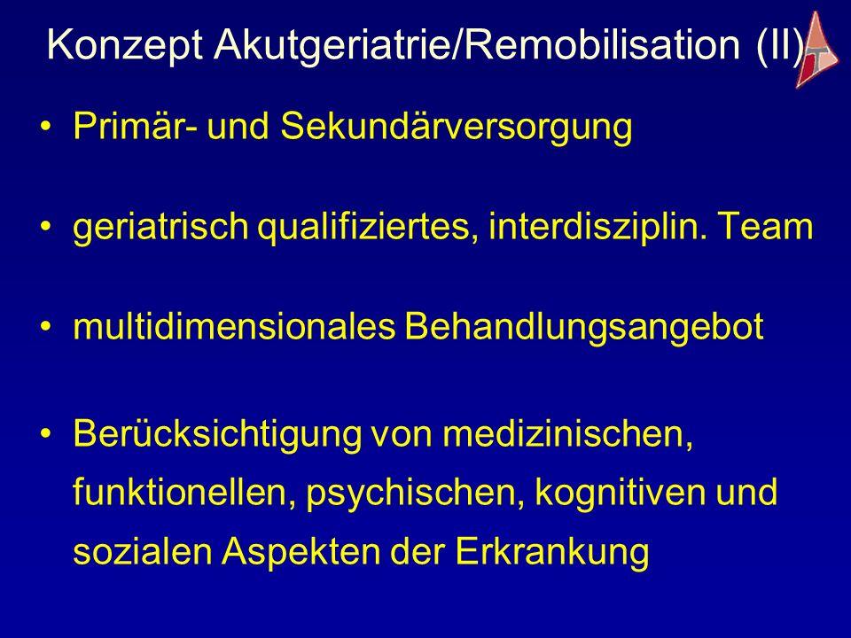 Konzept Akutgeriatrie/Remobilisation (II)