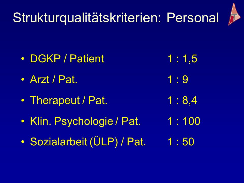 Strukturqualitätskriterien: Personal