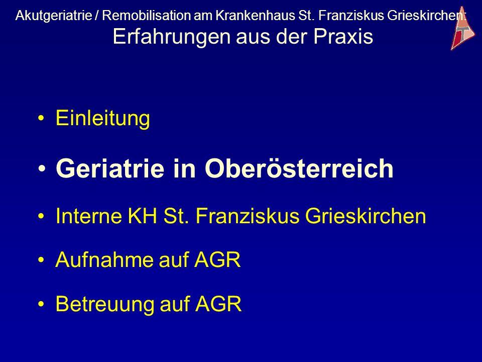 Geriatrie in Oberösterreich