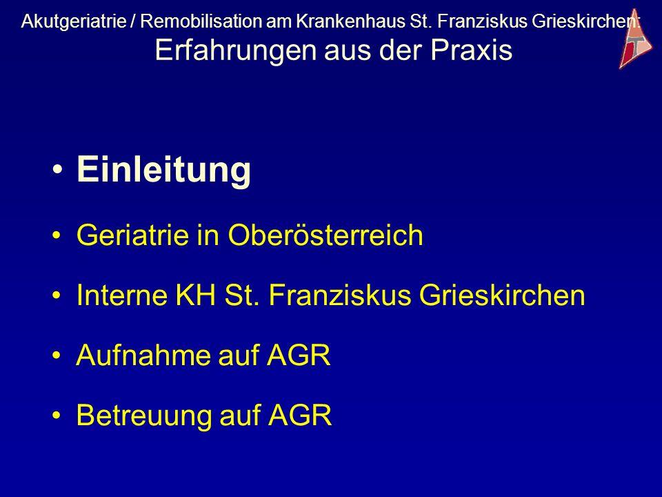 Einleitung Geriatrie in Oberösterreich