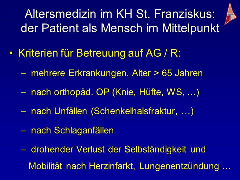 Altersmedizin im KH St. Franziskus: der Patient als Mensch im Mittelpunkt