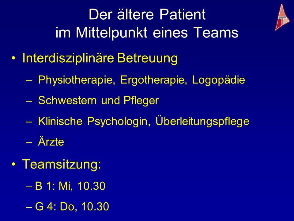 Der ältere Patient im Mittelpunkt eines Teams