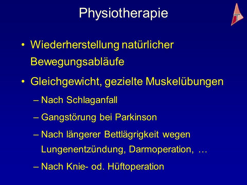 Physiotherapie Wiederherstellung natürlicher Bewegungsabläufe