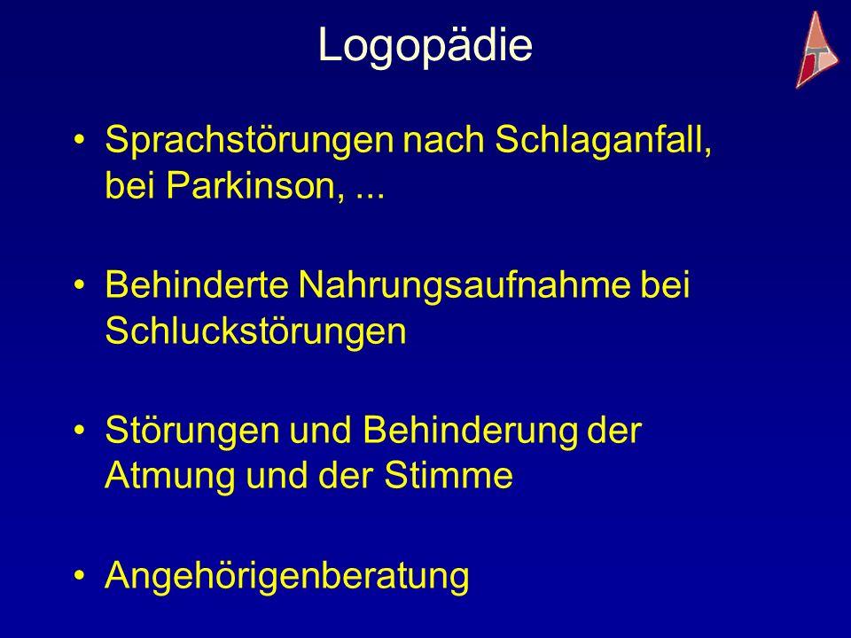 Logopädie Sprachstörungen nach Schlaganfall, bei Parkinson, ...