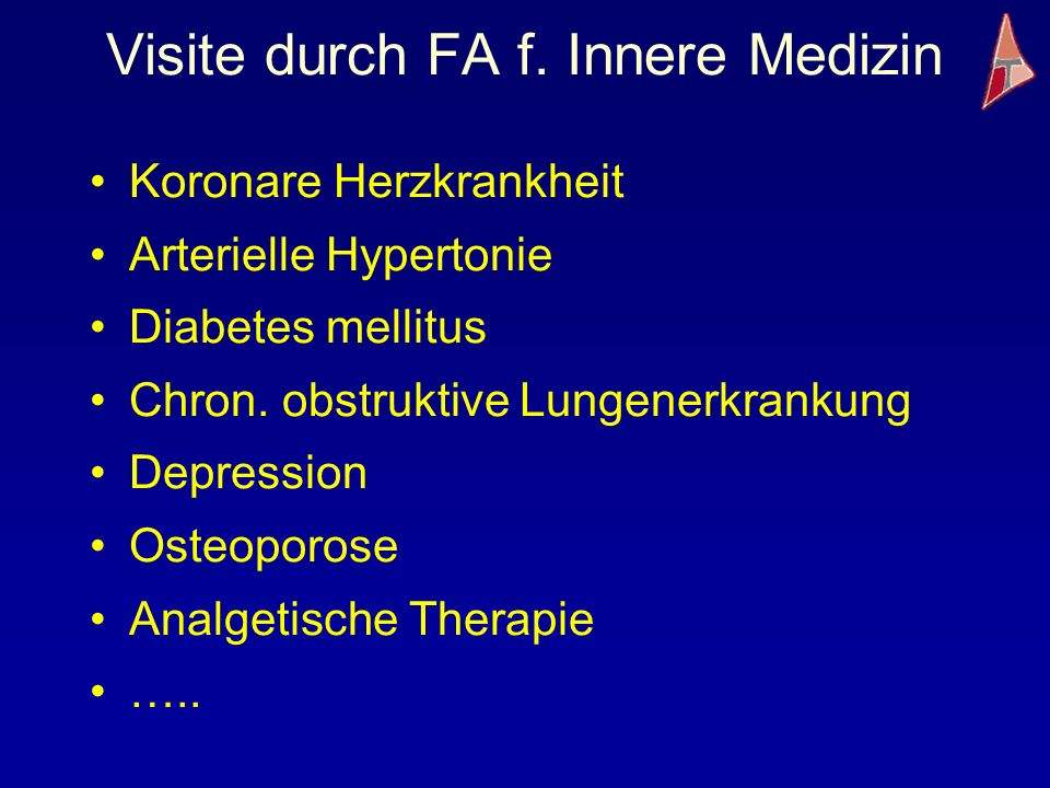 Visite durch FA f. Innere Medizin