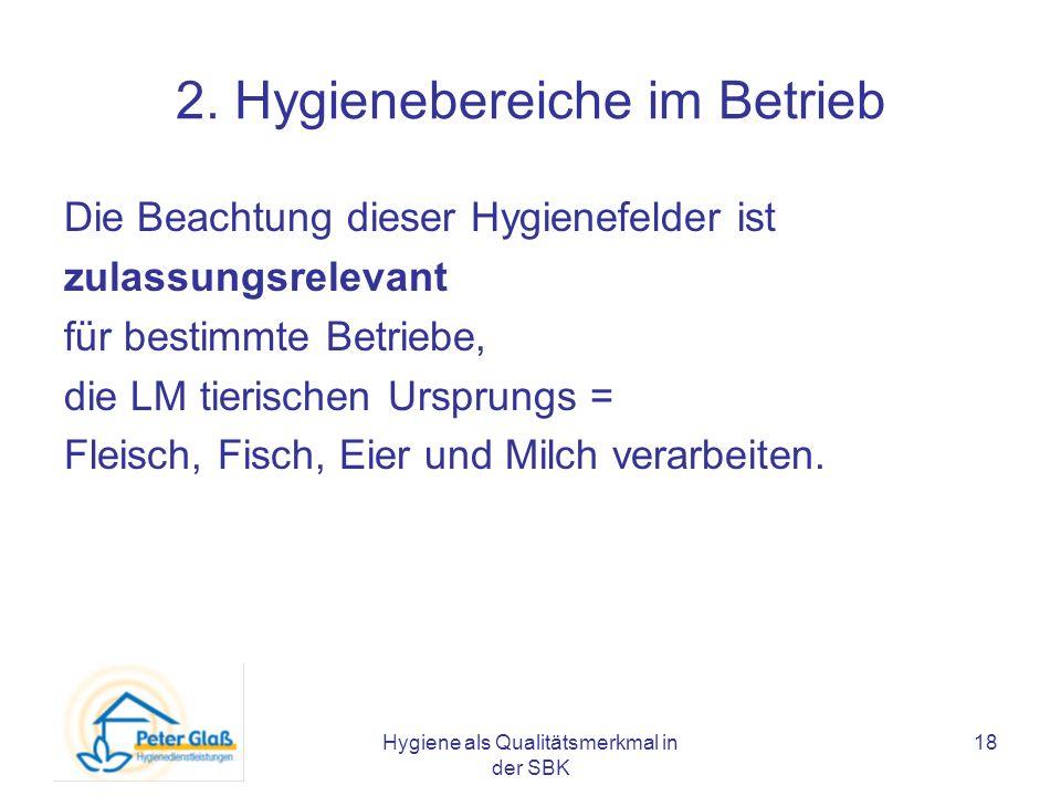 2. Hygienebereiche im Betrieb