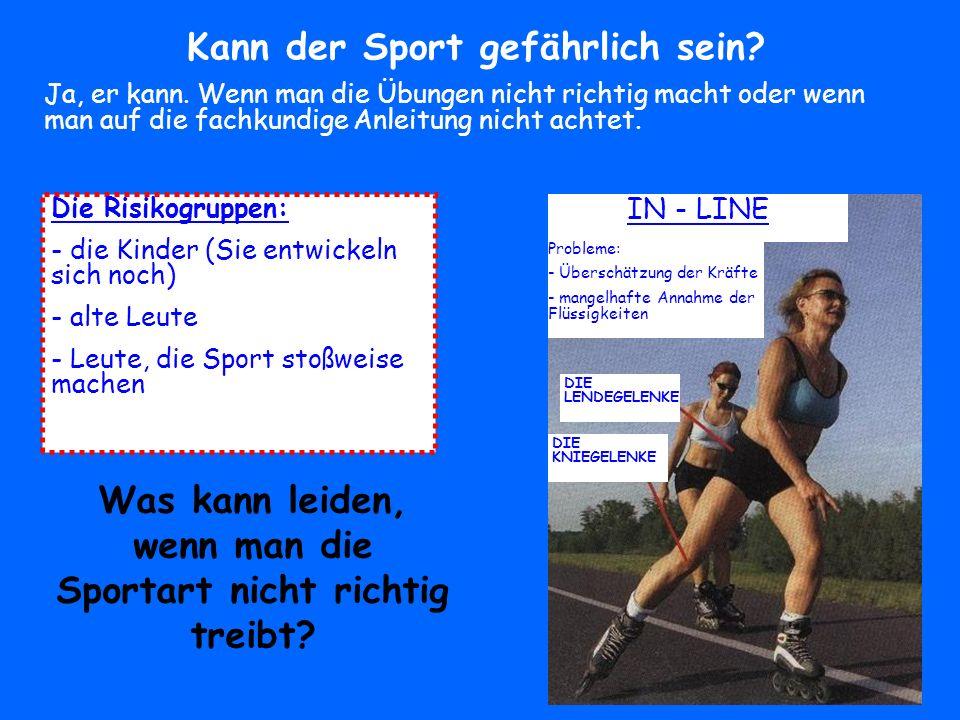 Kann der Sport gefährlich sein