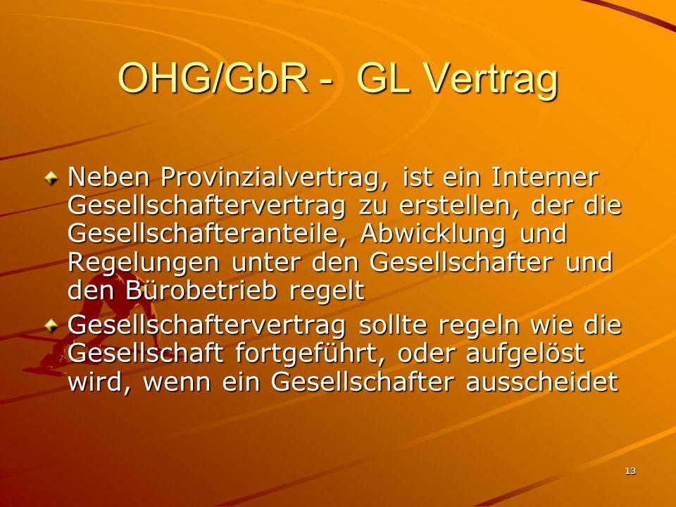 OHG/GbR - GL Vertrag