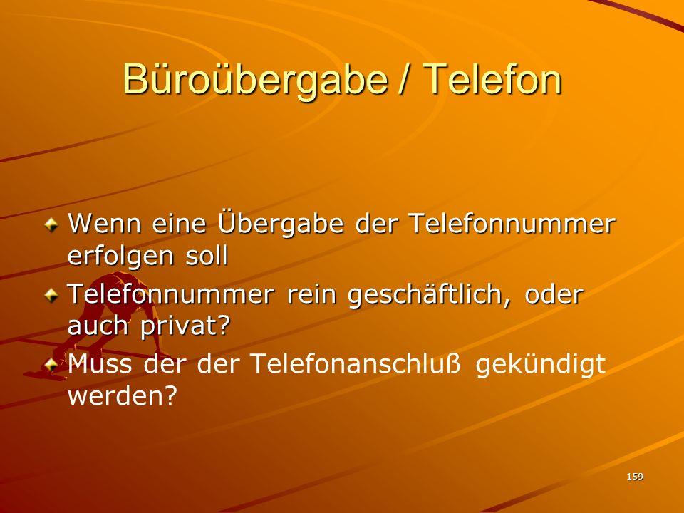 Büroübergabe / Telefon