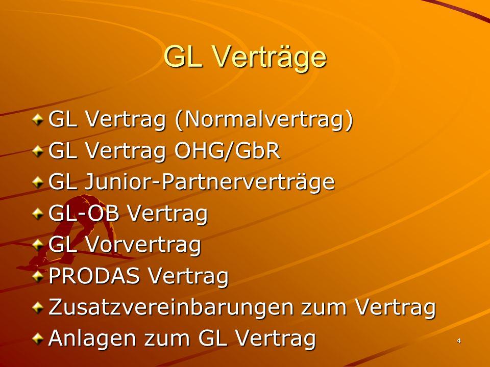 GL Verträge GL Vertrag (Normalvertrag) GL Vertrag OHG/GbR