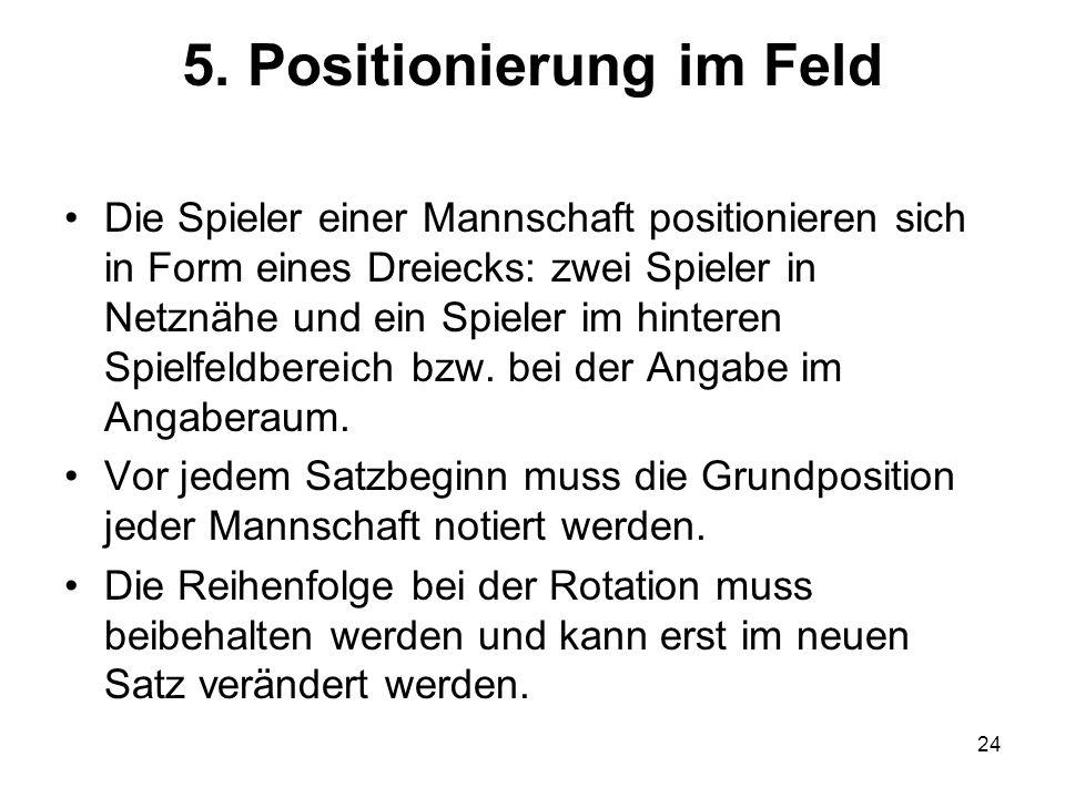 5. Positionierung im Feld