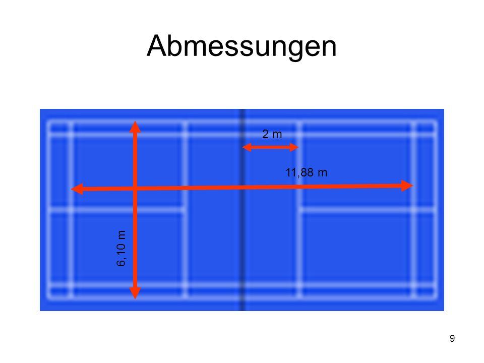 Abmessungen 2 m 11,88 m 6,10 m