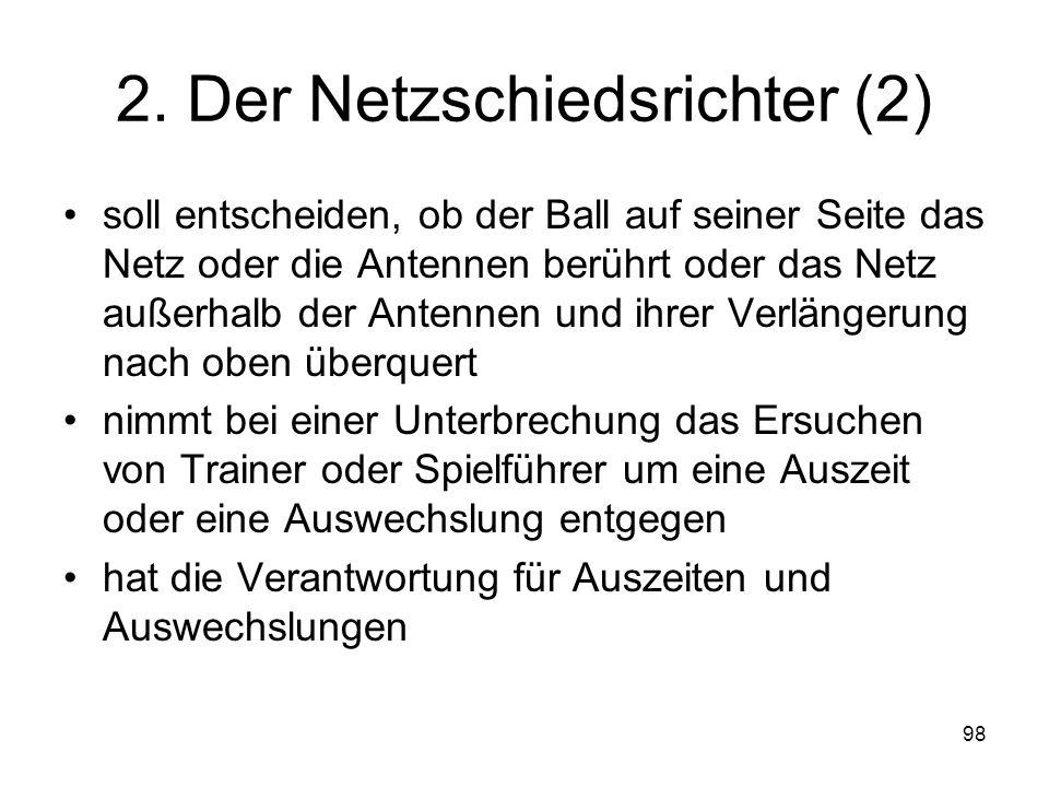 2. Der Netzschiedsrichter (2)