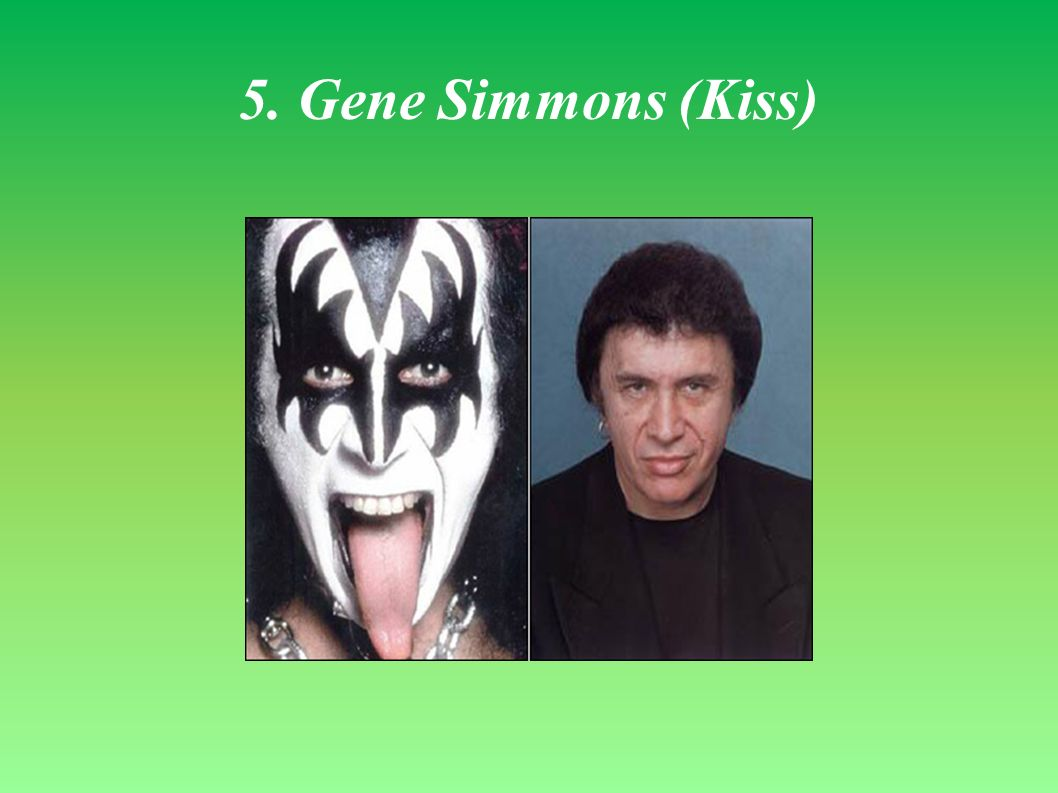 5. Gene Simmons (Kiss)