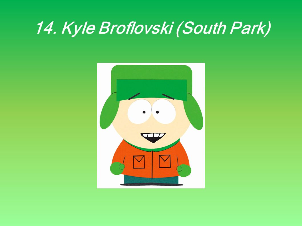14. Kyle Broflovski (South Park)