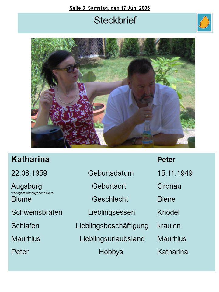 Steckbrief Katharina Peter 22.08.1959 Geburtsdatum 15.11.1949