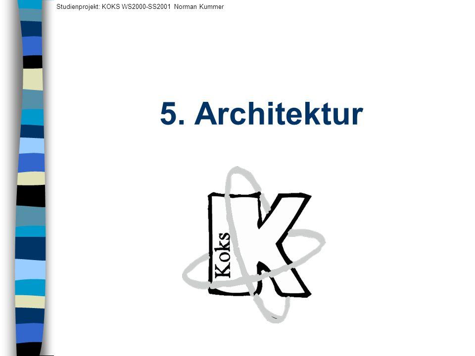 Studienprojekt: KOKS WS2000-SS2001 Norman Kummer