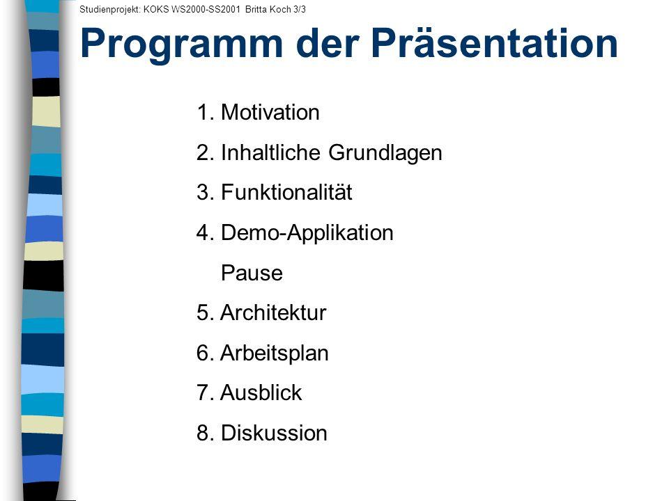 Programm der Präsentation