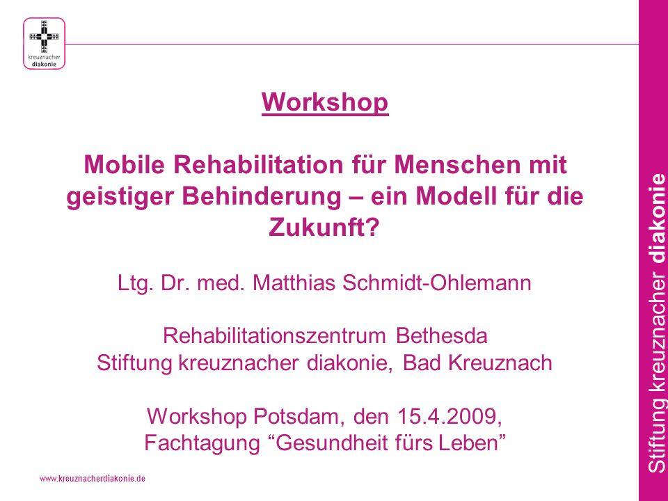 Workshop Mobile Rehabilitation für Menschen mit geistiger Behinderung – ein Modell für die Zukunft.