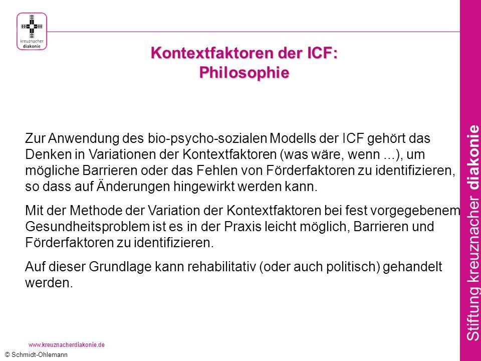 Kontextfaktoren der ICF: Philosophie
