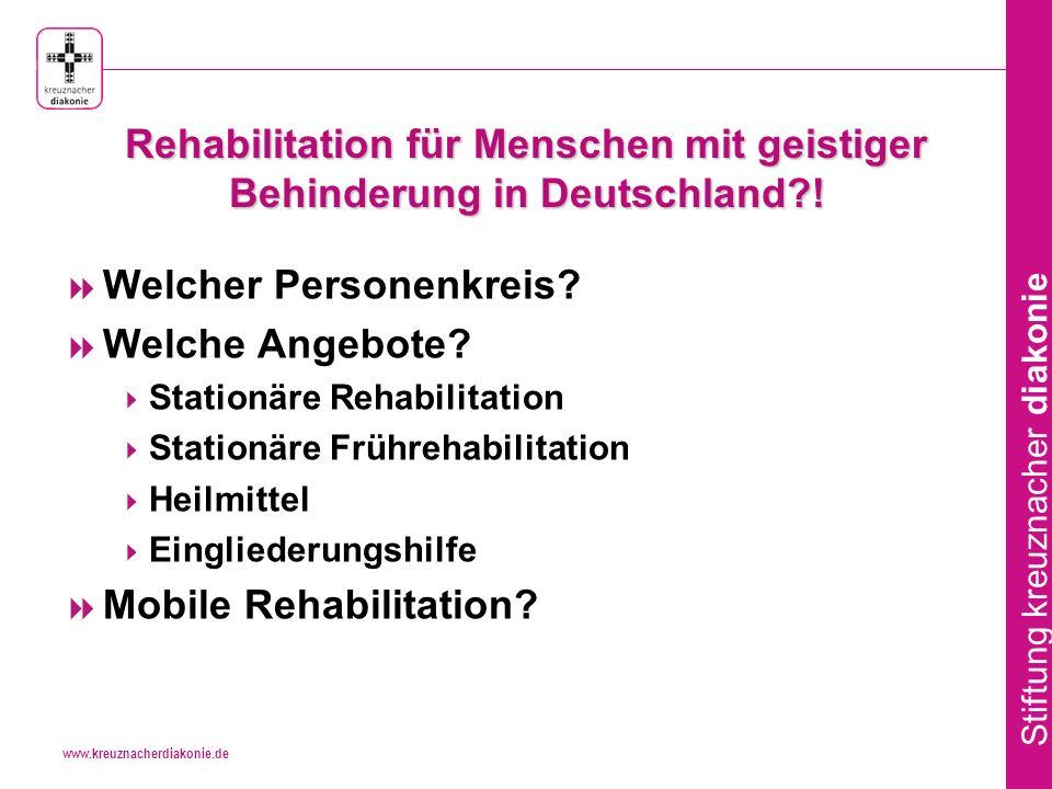 Rehabilitation für Menschen mit geistiger Behinderung in Deutschland !