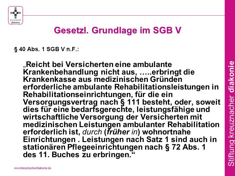 Gesetzl. Grundlage im SGB V