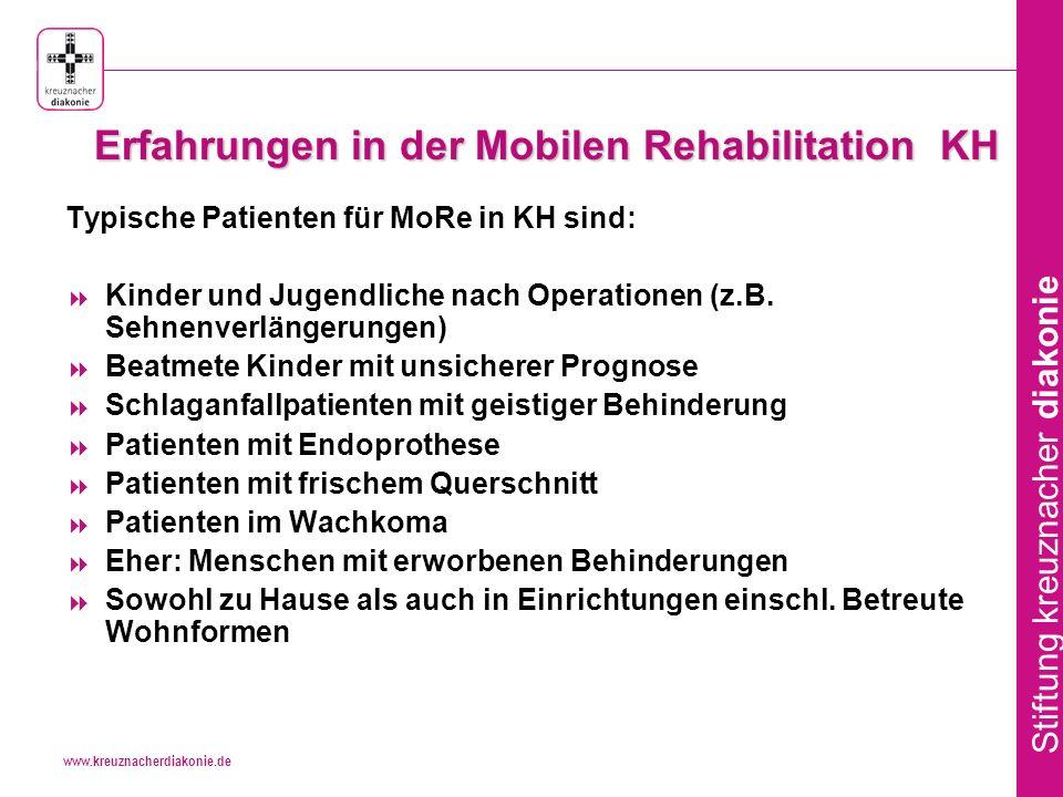 Erfahrungen in der Mobilen Rehabilitation KH