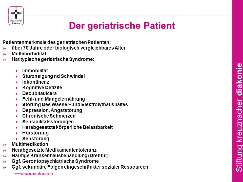 Der geriatrische Patient