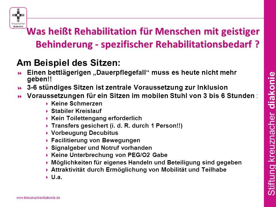 Was heißt Rehabilitation für Menschen mit geistiger Behinderung - spezifischer Rehabilitationsbedarf