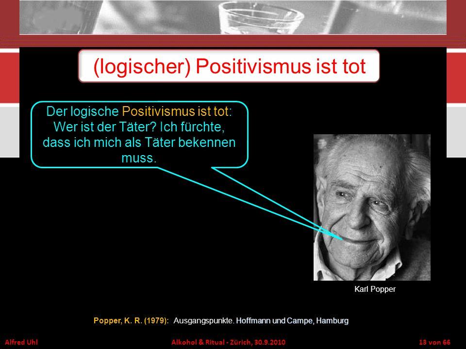 (logischer) Positivismus ist tot