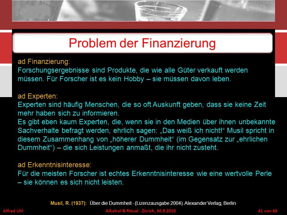 Problem der Finanzierung