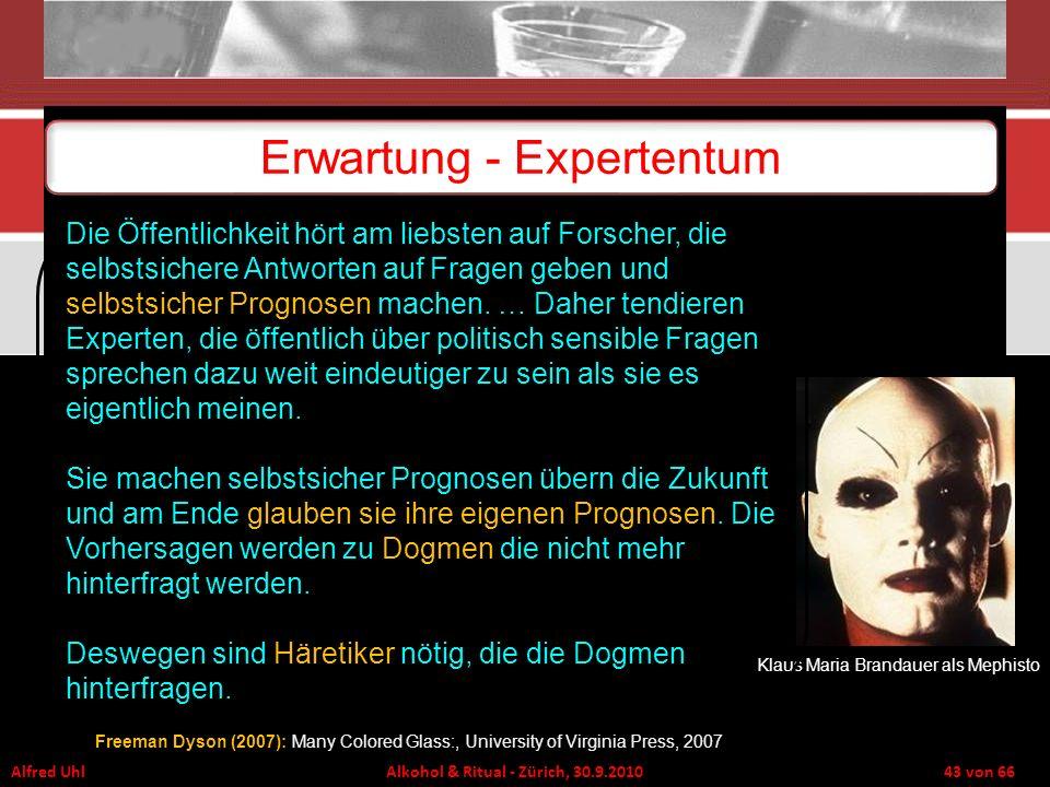 Erwartung - Expertentum